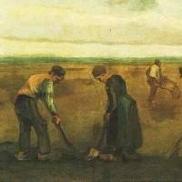 Campesinos plantando patatas (Van Gogh, 1884)