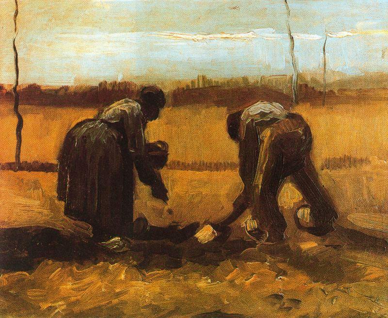 Campesinos plantando patatas van gogh 1884 blocdejavier - Van gogh comedores de patatas ...