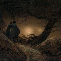 Dos hombres contemplando la luna (Friedrich, 1819)