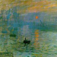 Impresión: sol naciente. Amanecer  (Monet, 1872)