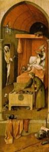 El Bosco - la muerte del avaro (1490)