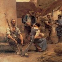 La paga de los cosechadores (Léon-Augustin L'hermitte, 1882)
