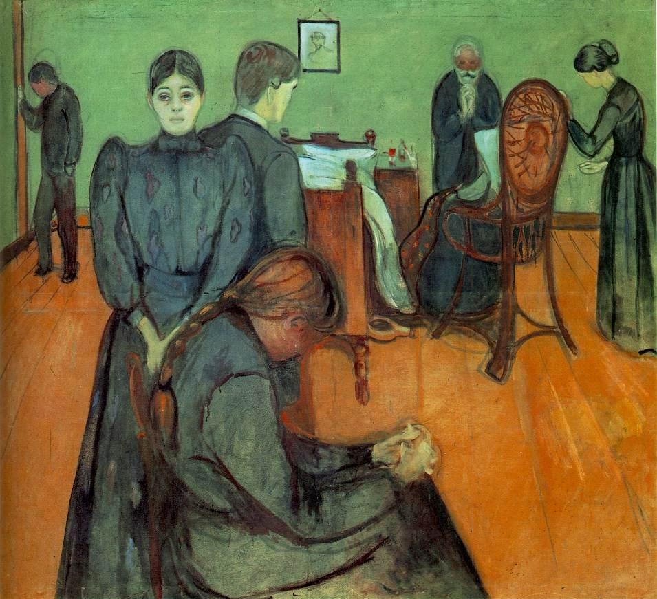 Image result for munch muerte en la habitación del enfermo