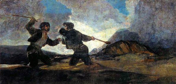 Resultado de imagen de goya dos peleando