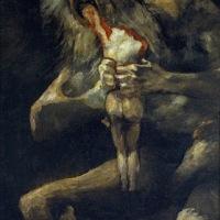 Saturno devorando a su hijo (Goya, 1820)