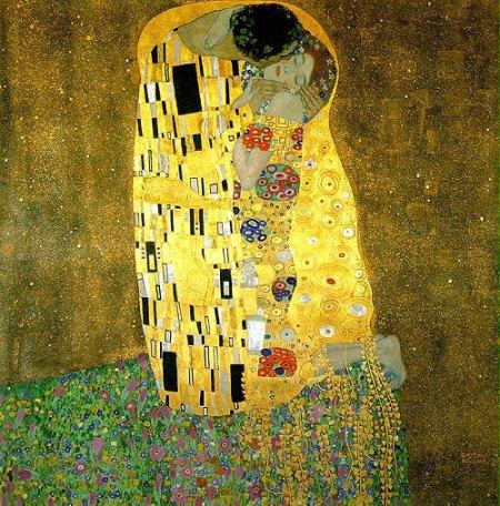 Klimt - el beso (1907)