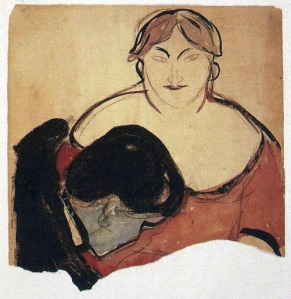 Munch - Young Man and Prostitute (1893)