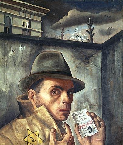 Nussbaum - Autorretrato con pasaporte judío (1943)