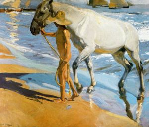 Sorolla - el baño del caballo (1909)