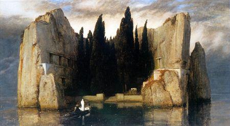 Arnold Bocklin - la isla de los muertos (1880) tercera versión