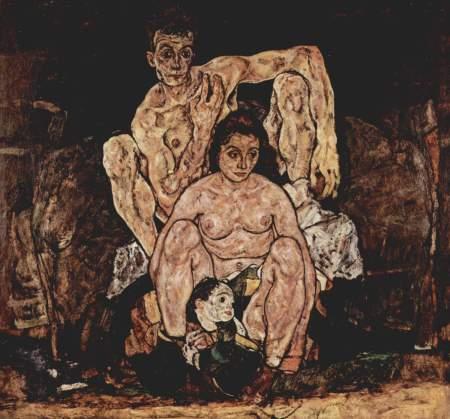 Egon Schiele - la familia (1918)