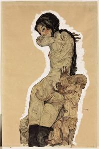 Egon Schiele - madre e hijo (1910)