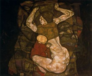 Egon Schiele - madre joven (1914)
