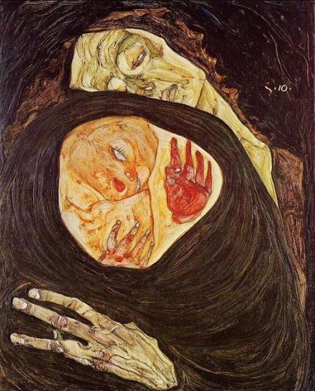 Egon Schiele - madre muerta (1910)