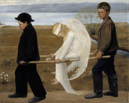 Hugo Simberg - el ángel herido (1903)