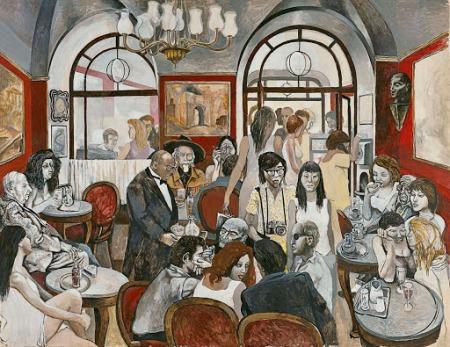 Renato Guttuso - caffe Greco (1976)