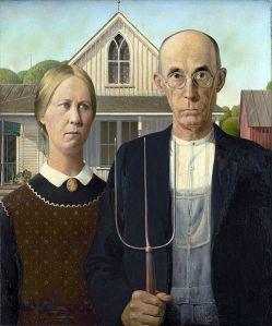 Grant Wood - American Gothic (1930)