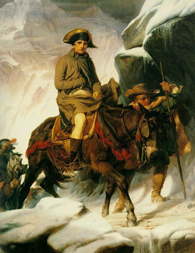 Paul Delaroche  - Napoleón cruzando Los Alpes (1850)