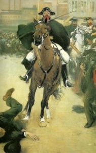 Ramón Casas  - la carga (1899) detalle 01