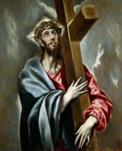 El Greco -  Cristo abrazado a la Cruz (1580