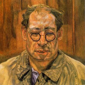 Lucien Freud - man in a mackinstosh (1958)