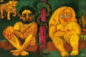 Nolde - Adan y Eva (el paraíso perdido) (1924)