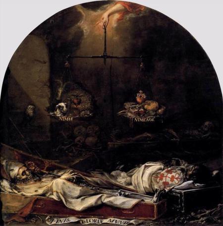 Valdes Leal - finis gloriae mundi el fin de las glorias mundanas (1672)