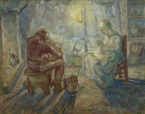 Van Gogh - evening (1889)