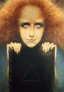 Delville - retrato de madame Merill (1892)