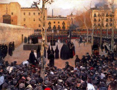 Ramón Casas - garrote vil (1894)