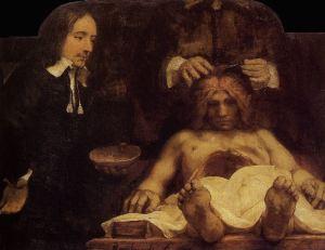 Rembrandt - la lección de anatomía del doctor Joan Deyman (1656)
