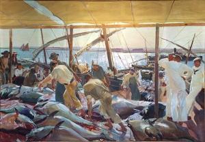 Sorolla - la pesca del atún en Ayamonte (1919)