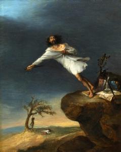 LEONARDO ALENZA - sátira del suicida romántico (1839)