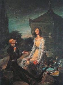 LEONARDO ALENZA - Sátira del suicidio por amor (1839)