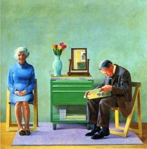 David Hockney - Mis padres (1977)