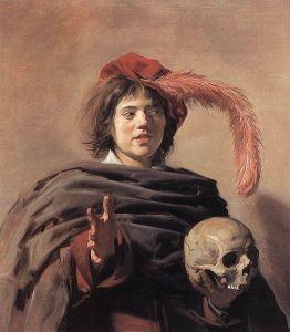 Hals - joven sosteniendo una calavera (1626)