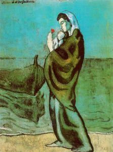 Picasso - maternidad a la orilla del mar (1902)