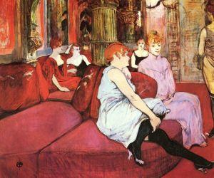 Toulouse-Lautrec - El salón de la Rue des Molins (1894)