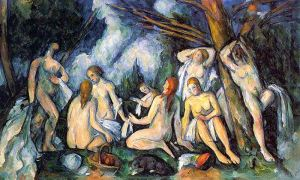 Cezanne - nudes in lands (1905)