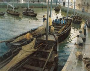 Enrique Martinez Cubells - La vuelta de la pesca (1911)
