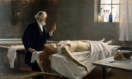 Enrique Simonet  - La autopsia (Y tenía corazón) (1890)