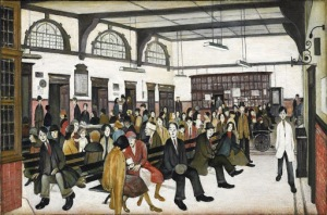 L.S. Lowry - Ancoats Hospital Outpatients' Hall (1952)