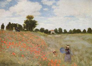 Monet - Campo floreciendo en Argenteuil (1873)