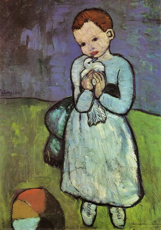 Picasso - niño con paloma (1901) (01)