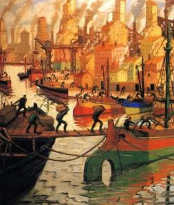 Quinquela Martin - Día de sol en la Boca (1946)