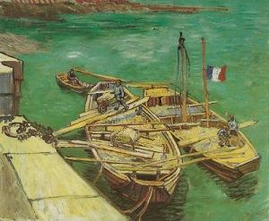 Van Gogh - barcazas en el Ródano (1888)