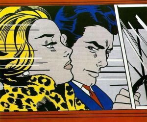 Lichtenstein - in the car (1963)