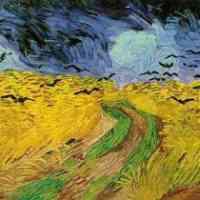 trigal con cuervos (Van Gogh, 1890)