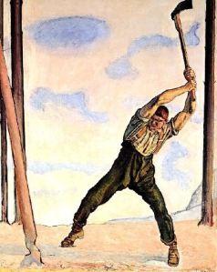 Hodler - El leñador (1910)