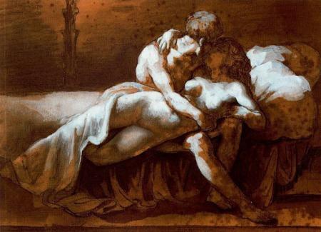 Gericault - El beso (1817)